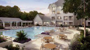 highland resort style salt water pool amenities