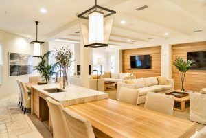 Luxury clubhouse with modern conveniences for lounging