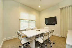 Upscale conference room for business meetings on-site